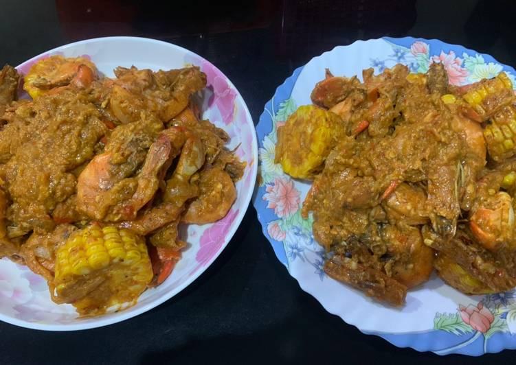 Resep mengolah Saus Padang udang kepiting lezat