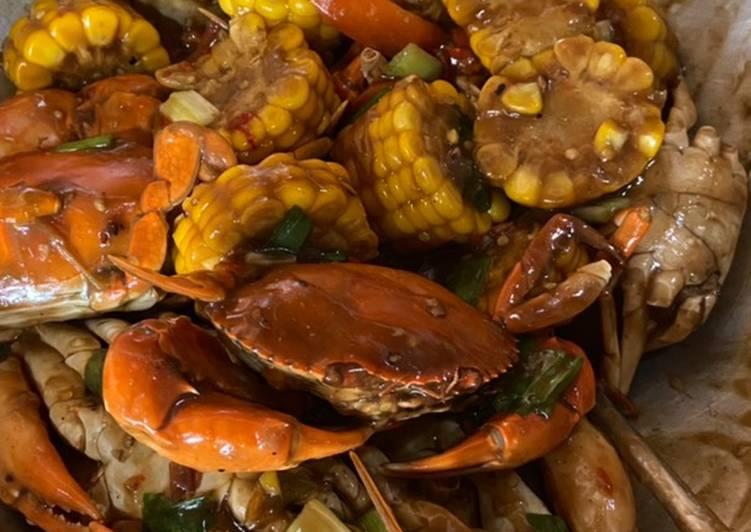 Resep membuat Kepiting saus lada hitam istimewa