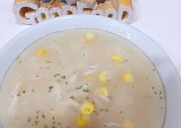 Resep: Sup jagung kepiting istimewa