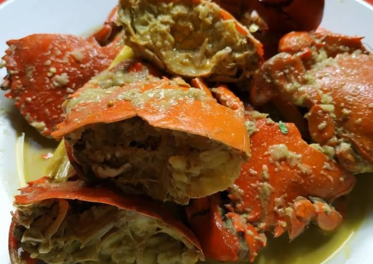 Cara mengolah Kepiting masak santan lezat