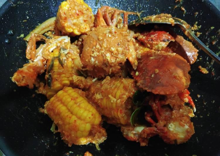 Cara membuat Kepiting & Jagung Saus Padang Pedas enak