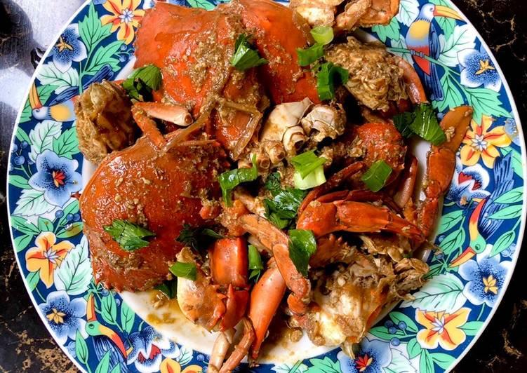 Cara Mudah memasak Kepiting saos tiram siram telur istimewa