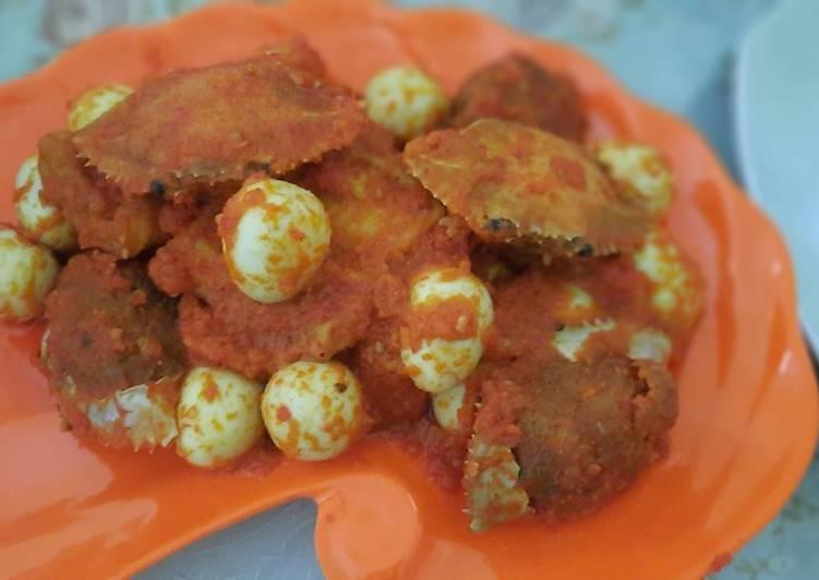 Resep: Balado kepiting telur puyuh
