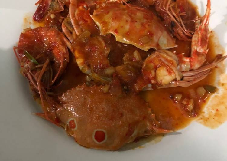 Resep: Udang kepiting asam manis