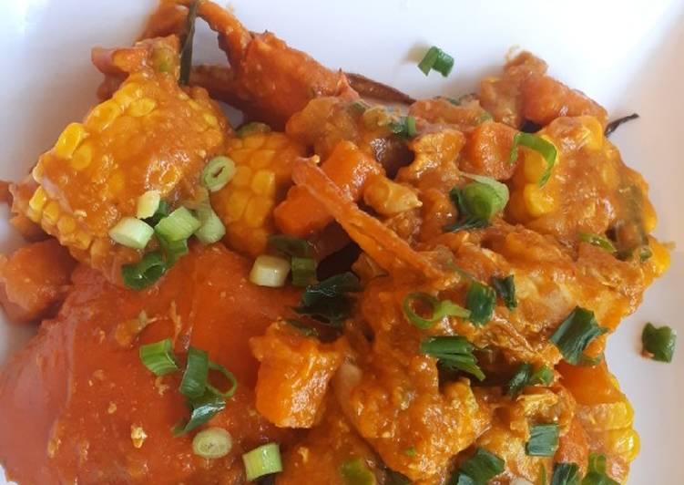 Resep: Kepiting jagung wortel sauce padang lezat