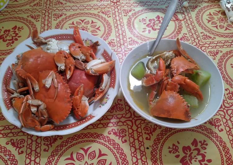 Cara membuat Kepiting sayur labu lezat