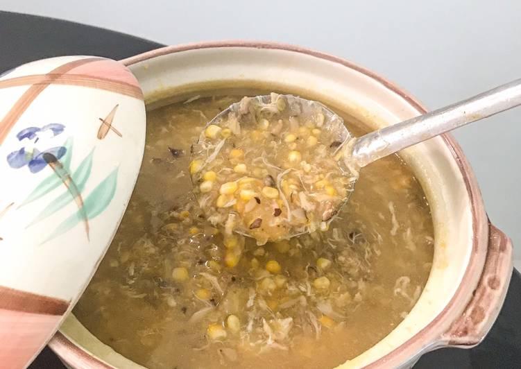 Resep memasak Sup jagung kepiting jamur istimewa