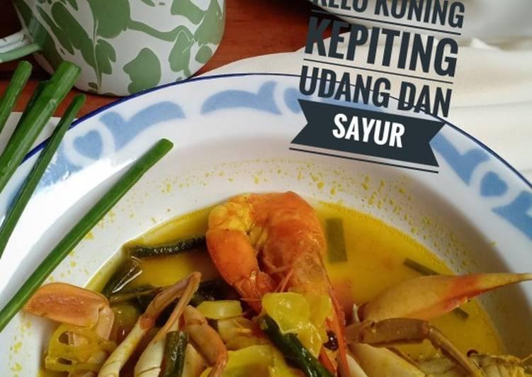 Cara mengolah Kelo Kuning kepiting udang dan sayur
