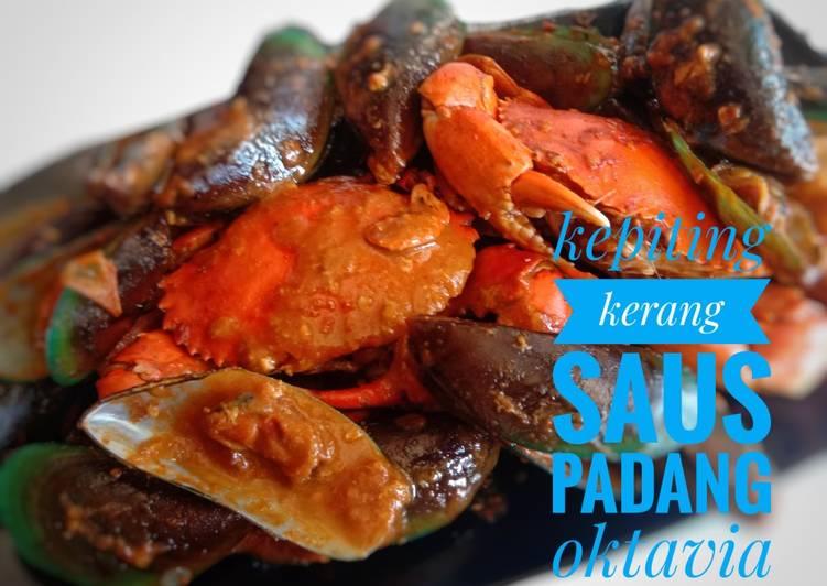 Kepiting kerang saus padanh