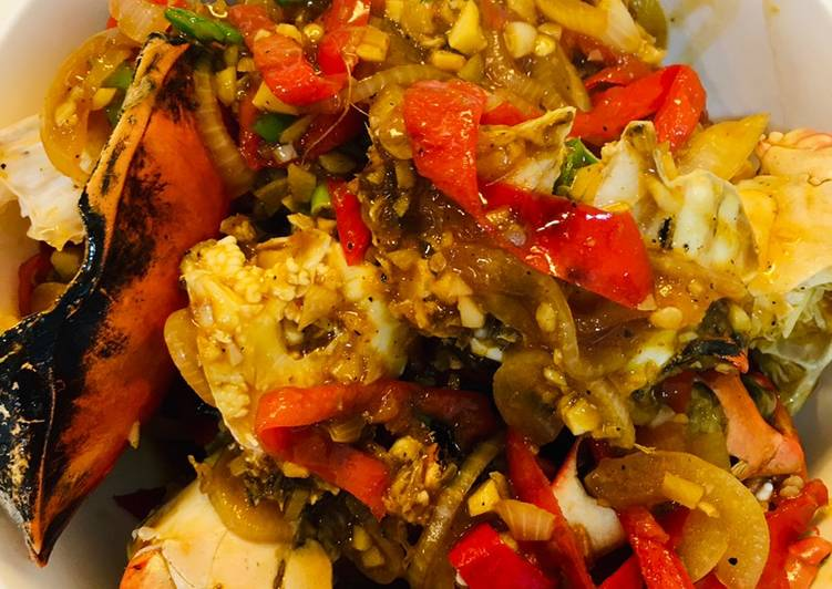 Resep membuat Kepiting saus lada hitam enak