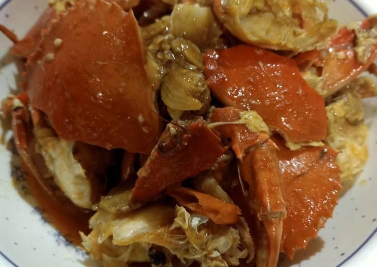 Resep: Kepiting saus pedas ala mama enak