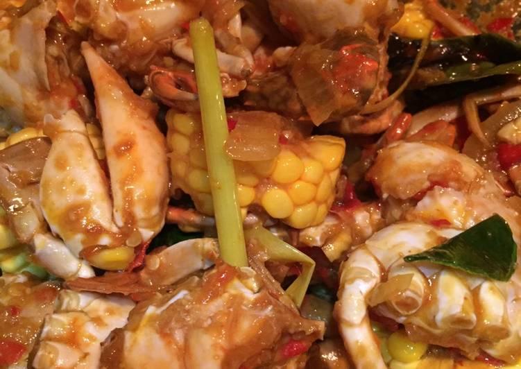 Resep membuat Kepiting asam pedas manis ala saya