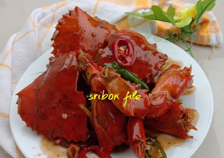 Resep: Kepiting lada hitam enak