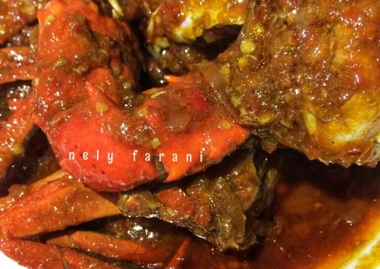 Cara mengolah Kepiting saus tiram /asam manis pedas enak