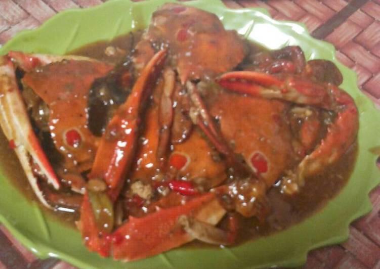 Resep: Kepiting saos tiram lezat