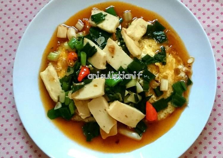 Resep: Telur+bakso kepiting saus tiram istimewa