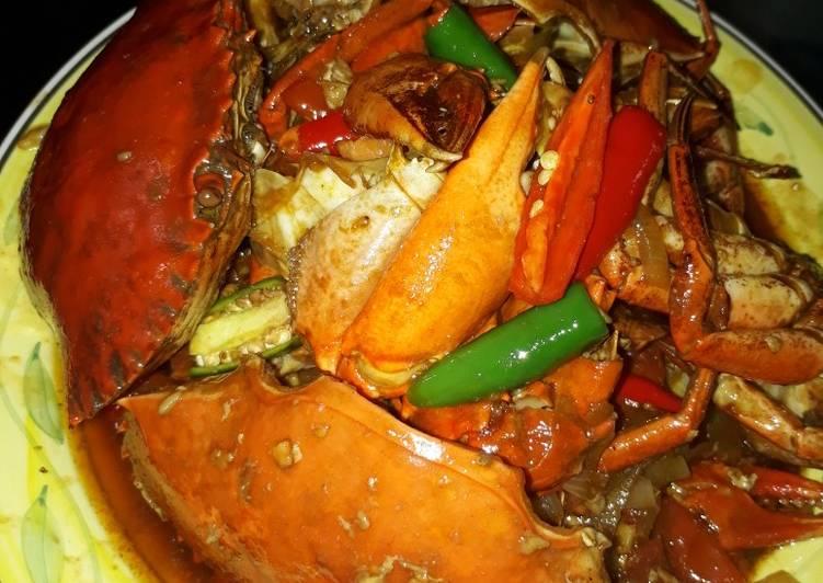 Cara Mudah membuat Kepiting saus tiram feat asam manis Ala Ku istimewa