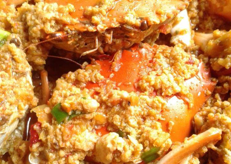 Resep: Kepiting sambal telur pedas manis dengan saos tiram