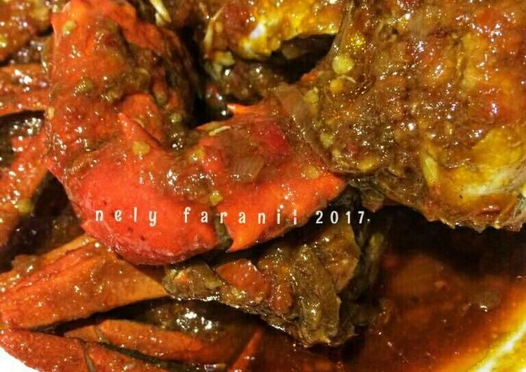 Cara Mudah membuat Kepiting saus tiram / asam manis pedas