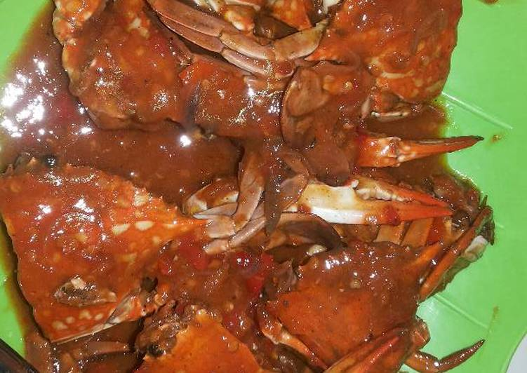 Resep: Kepiting (Rajungan) saus tiram lezat