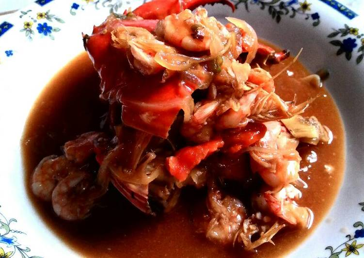 Resep membuat Kepiting udang saus tiram