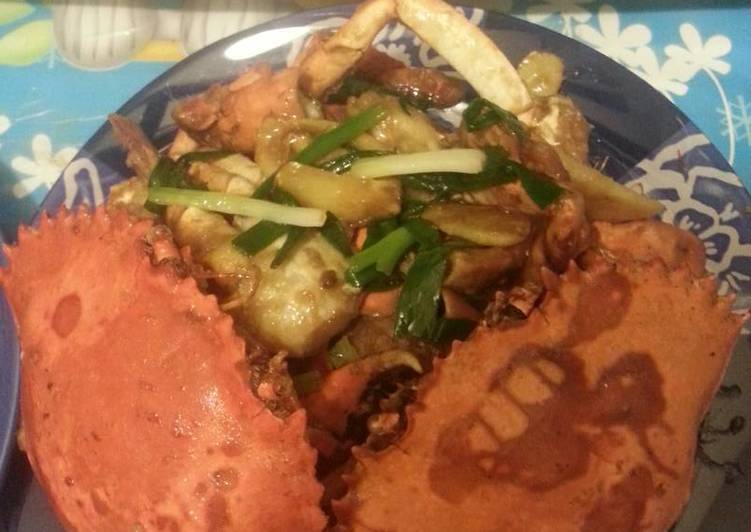 Cara memasak Kepiting saos tiram