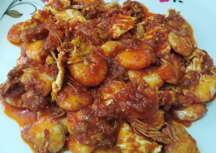 Resep memasak Udang masak asam