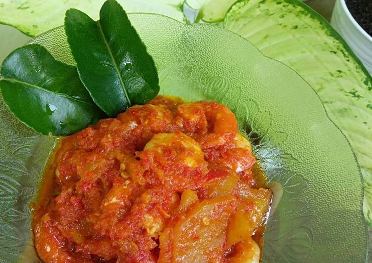 Resep: Balado kentang udang 🍤