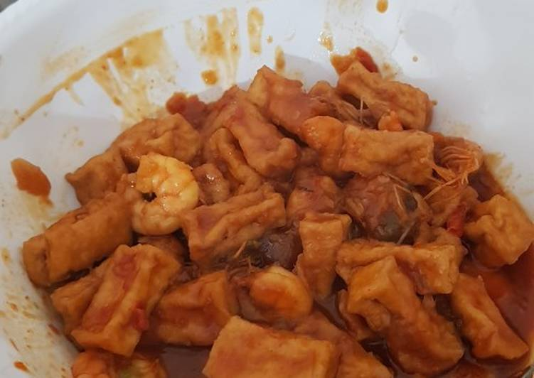 Resep: Udang tahu saus pedas manis asem istimewa