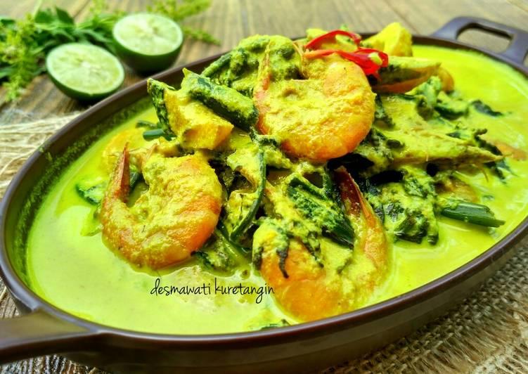 Resep memasak Cara membuat gulai Paku/ Pakis Udang Khas Minang Sumatera Barat