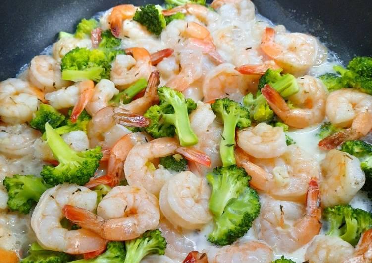 Resep: Brokoli Udang dengan creamy sauce