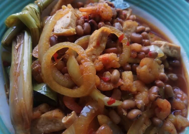 Cara Mudah mengolah Tumis udang tahu kacang tolo