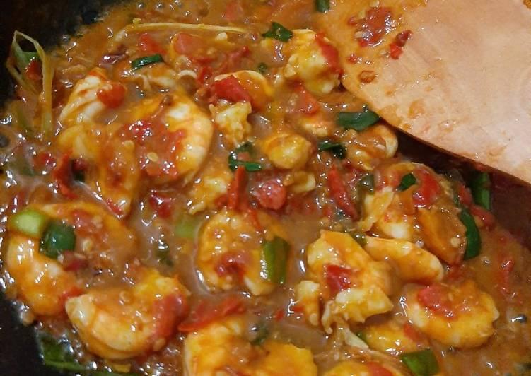 Cara Mudah membuat Udang saus tiram
