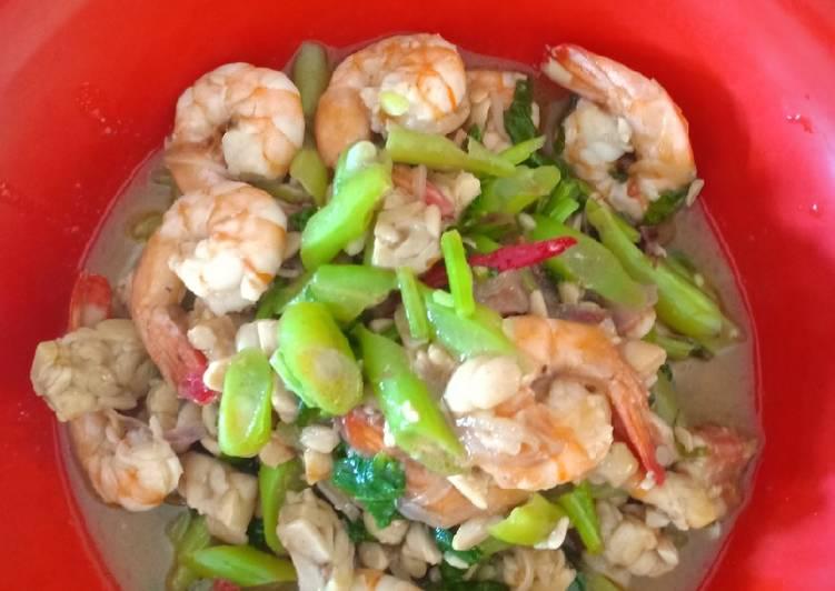 Resep memasak Udang tempe saus tiram lezat