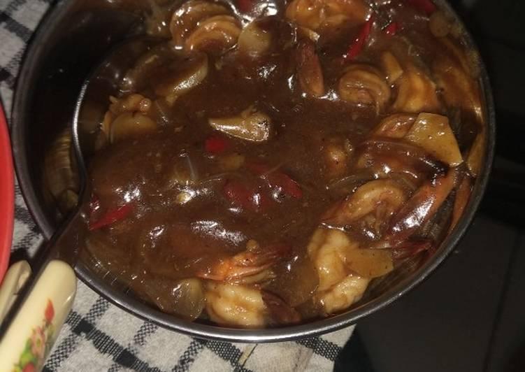 Resep membuat Udang saus tiram enak