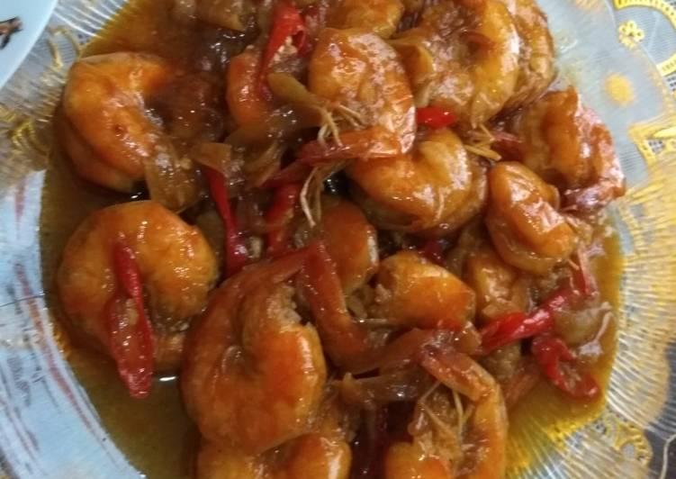 Resep: Udang saus tiram enak