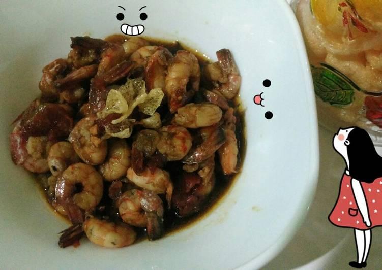 Resep: Udang tomat saus tiram