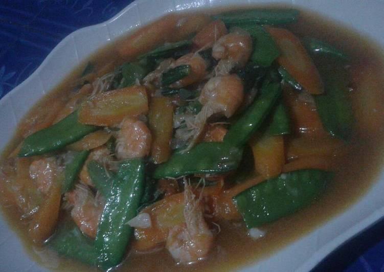 Resep: Tumis udang sayur saus tiram istimewa