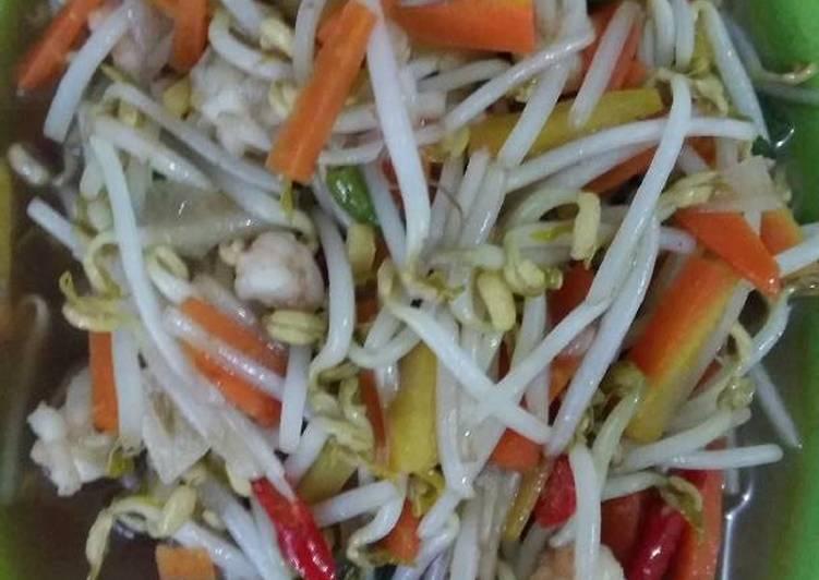Resep: Tumis toge wortel udang saos tiram