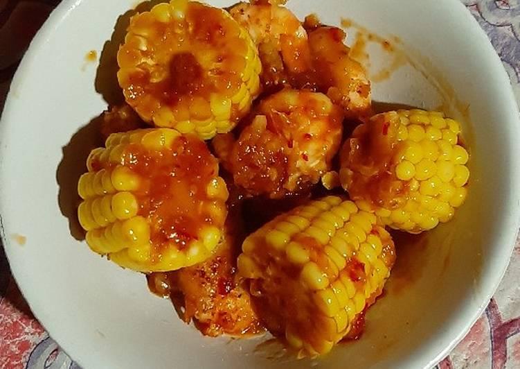 Resep: Udang jagung saos tiram lezat