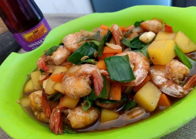 Resep: Udang saus tiram