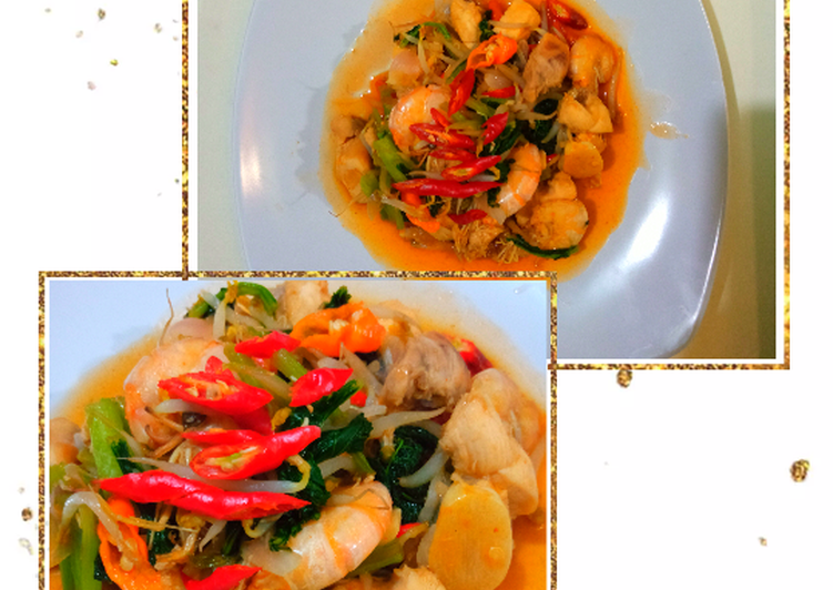 Resep: Udang Ayam saos tiram (versi diet)