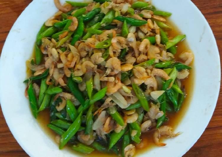 Cara Mudah memasak Oseng buncis udang saus tiram enak