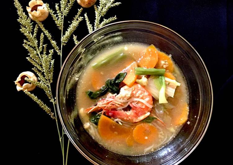 "Resep: Sup udang saos tiram ""21-8-20"" lezat"