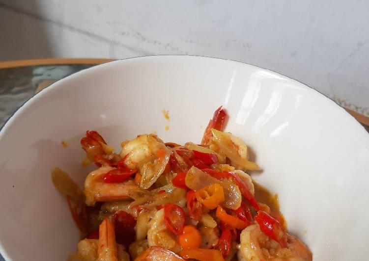 Cara memasak Udang saos tiram