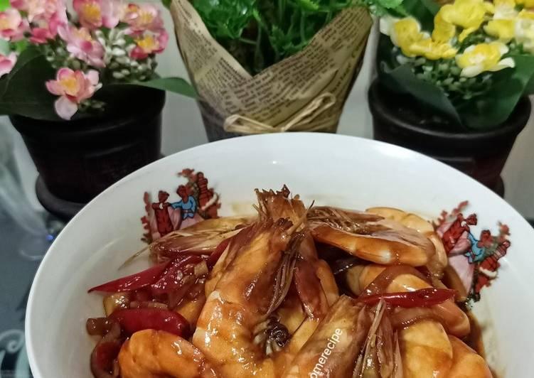 Cara Mudah memasak Udang saos tiram / udang saos mentega ala me 🥰