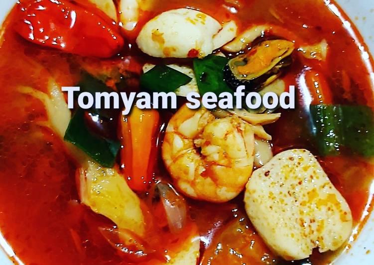 Resep memasak Tomyam seafood bumbu instan