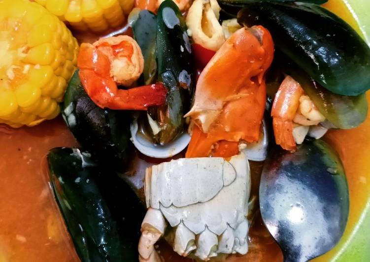 Resep: Seafood saus asam pedas