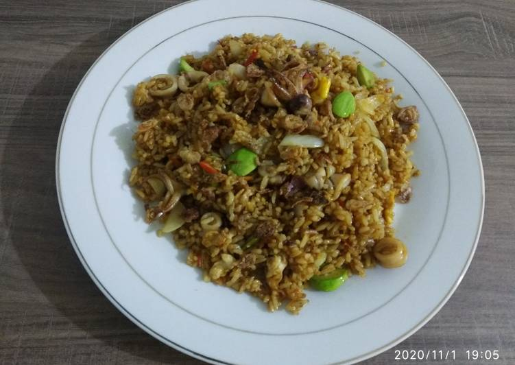 Resep: Nasi goreng Seafood 🦐🦑& Petai