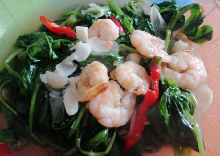 Resep memasak Tumis kangkung seafood istimewa